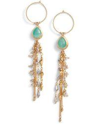 Chan Luu - Moonstone Chain Earrings - Lyst