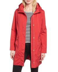 Cole Haan - Back Bow Packable Hooded Raincoat, Pink - Lyst