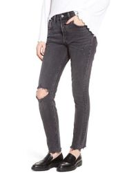 Levi's - Levi's 501 High Waist Ripped Skinny Jeans - Lyst