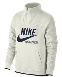 Nike - Sportswear Women's Half Zip Fleece Pullover - Lyst