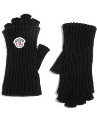Moncler - Guanti Wool & Cashmere Long Fingerless Gloves - Lyst