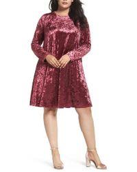 Glamorous - Velvet Shift Dress - Lyst