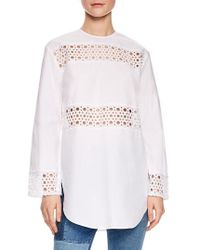 Sandro - Lace Inset Tunic Top - Lyst