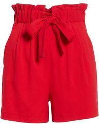 Maje - Iona Paperbag Shorts - Lyst