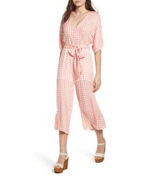 Lost + Wander - Brunch Gingham Jumpsuit - Lyst