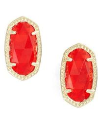 Kendra Scott | Ellie Birthstone Stud Earrings | Lyst