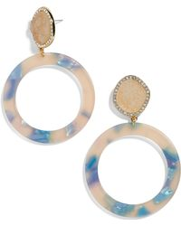 BaubleBar - Devinne Hoop Earrings - Lyst