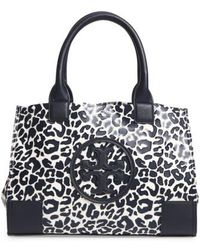 f0649872b1ea Tory Burch - Mini Ella Leopard Print Nylon Tote - Lyst