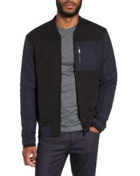 BOSS - Skiles 06 Mixed Media Bomber Jacket - Lyst