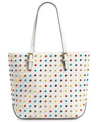 Sondra Roberts | Studded Faux Leather Tote | Lyst