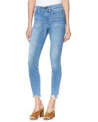 PAIGE - Transcend Vintage - Hoxton High Waist Ripped Crop Skinny Jeans - Lyst