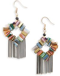Mad Jewels - Street Racer Fringe Earrings - Lyst