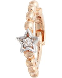 Kismet by Milka - Single Diamond Star Beaded Hoop Earring - Lyst