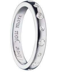 Monica Rich Kosann - Love You More White Sapphire Poesy Ring Charm - Lyst