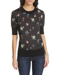 Ted Baker - Addylyn Oracle Mixed Media Top - Lyst