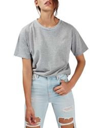 TOPSHOP - Distressed Edge Tee - Lyst
