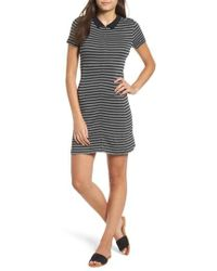 RVCA - Shaw Stripe Polo Dress - Lyst