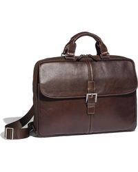 Boconi - 'tyler' Tumbled Leather Portfolio Briefcase - - Lyst