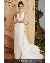 Carolina Herrera - Aubrey Silk Faille Column Gown - Lyst