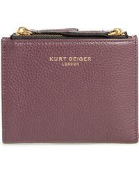 Kurt Geiger - E Leather Wallet - Burgundy - Lyst
