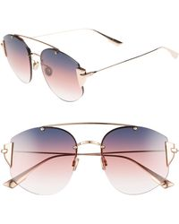 1cbc5c4d499 Dior - Christian Stronger 58mm Rounded Aviator Sunglasses - Lyst