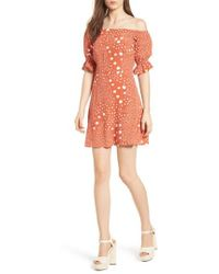 The Fifth Label - Peppers Polka Dot Off The Shoulder Dress - Lyst