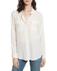 Equipment - 'slim Signature' Silk Shirt - Lyst