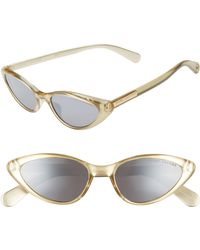 90d7cf7d0bbd Marc Jacobs 53mm Round Sunglasses in Green - Lyst