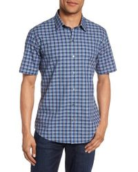 Zachary Prell - Check Short Sleeve Sport Shirt - Lyst