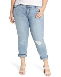 Kut From The Kloth - Catherine Distressed Boyfriend Jeans - Lyst