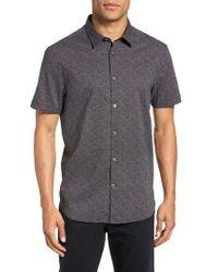 John Varvatos - Regular Fit Dot Print Sport Shirt - Lyst