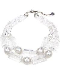 Ben-Amun - Imitation Pearl & Lucite Necklace - Lyst