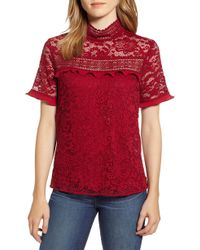 Gibson - X Glam Squad Sheaffer Lace Top - Lyst