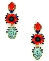 Elizabeth Cole - Zula Crystal Drop Earrings - Lyst