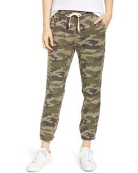 Pam & Gela - Clay Camo Lace-up Pants - Lyst