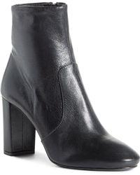 a28142bb36 Prada Suede 55mm Block-heel Boot in Black - Lyst