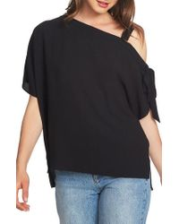 1.STATE - One-shoulder Tie Sleeve Top - Lyst