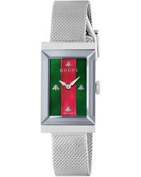 05573326fff Lyst - Gucci G-frame 19mm Stainless Steel Watch With Diamonds ...