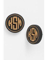 Moon & Lola - 'chelsea' Medium Personalized Monogram Stud Earrings (nordstrom Exclusive) - Lyst