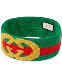 Gucci - Gg Lock Web Headband - Lyst