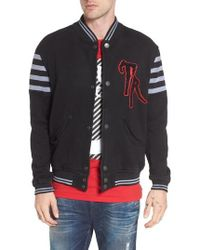 True Religion | Collegiate Knit Inset Jacket | Lyst