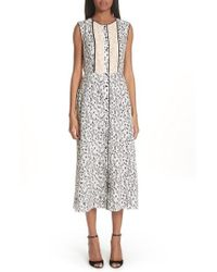 Yigal Azrouël - Wrap Detail Pleated Dress - Lyst
