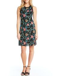 Karen Kane - Embroidered Mesh Sheath Dress - Lyst