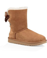 UGG - Ugg Customizable Bailey Bow Genuine Shearling Bootie - Lyst