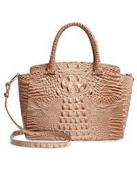 Brahmin - Nadia Croc Embossed Leather Satchel - - Lyst