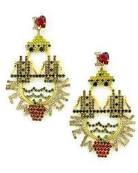 Elizabeth Cole - New York Crystal Drop Earrings - Lyst