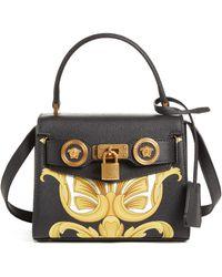 46b28f3be721 Versace - Mini Icon Top Handle Leather Crossbody Bag - - Lyst