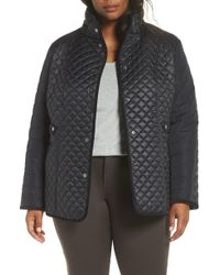 Gallery - Quilted Contrast Sleeve Jacket - Lyst