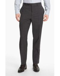 Canali - Flat Front Wool Trousers - Lyst