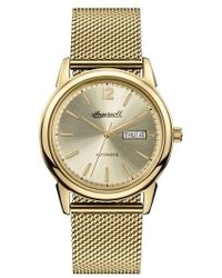 INGERSOLL WATCHES - Ingersoll New Haven Automatic Mesh Strap Watch - Lyst